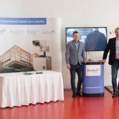 Stánek NetRexu, brozového partnera Fóra českého stavebnictví